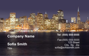 All City Panorama Business Cards Credit Card Template: 335857