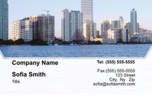 All City Panorama Business Cards Credit Card Template: 335861