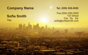 All City Panorama Business Cards Credit Card Template: 335863