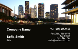 All City Panorama Business Cards Credit Card Template: 335865