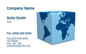 Globes - World Business Cards Credit Card Template: 328254