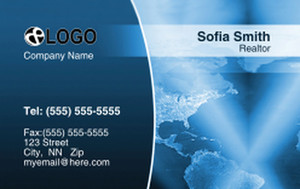 Globes - World Business Cards Credit Card Template: 320034