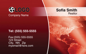 Globes - World Business Cards Credit Card Template: 320058