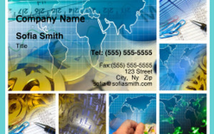 Globes - World Business Cards Credit Card Template: 328206