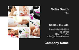 Massage - Reflexology Business Cards Credit Card Template: 348126