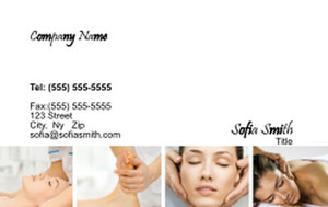 Massage - Reflexology Business Cards Credit Card Template: 348116