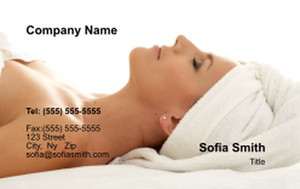 Massage - Reflexology Business Cards Credit Card Template: 348098