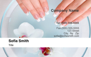 Manicure Business Cards Credit Card Template: 354606