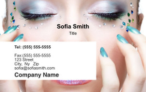 Manicure Business Cards Credit Card Template: 354598