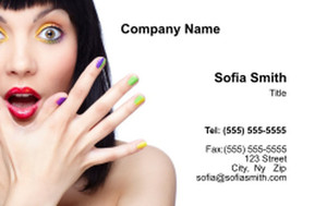 Manicure Business Cards Credit Card Template: 354608