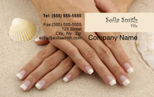 Manicure Business Cards Credit Card Template: 354586