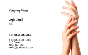 Manicure Business Cards Credit Card Template: 354597