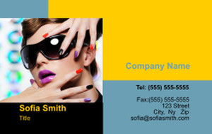 Manicure Business Cards Credit Card Template: 354603