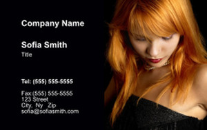 Hairdressers - Stylists Business Cards Credit Card Template: 354535
