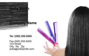 Hairdressers - Stylists Business Cards Credit Card Template: 354566