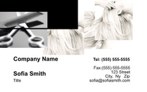 Hairdressers - Stylists Business Cards Credit Card Template: 354573