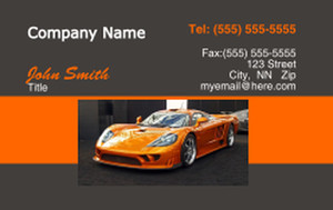 Cars Business Cards Credit Card Template: 318343