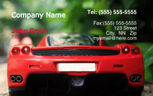 Cars Business Cards Credit Card Template: 318346