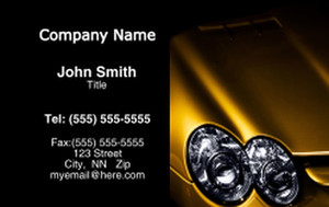 Cars Business Cards Credit Card Template: 318274