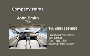 Cars Business Cards Credit Card Template: 318272