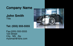 Cars Business Cards Credit Card Template: 318334