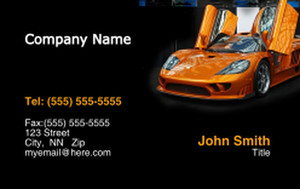 Cars Business Cards Credit Card Template: 318340