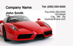 Cars Business Cards Credit Card Template: 318345