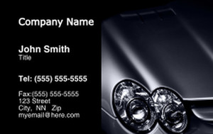 Cars Business Cards Credit Card Template: 318273