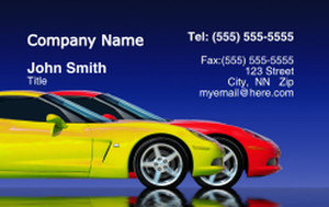 Cars Business Cards Credit Card Template: 318321