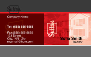 Sutton Business Cards Credit Card Template: 327089