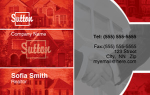 Sutton Business Cards Credit Card Template: 327095