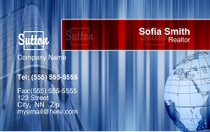 Sutton Business Cards Credit Card Template: 327098