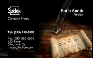 Sutton Business Cards Credit Card Template: 327101