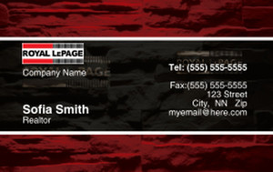 Royal Le Page Business Cards Credit Card Template: 327077