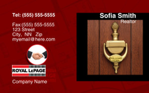 Royal Le Page Business Cards Credit Card Template: 327086