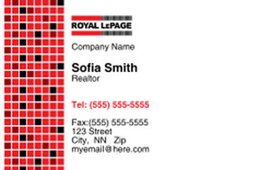 Royal Le Page Business Cards Credit Card Template: 327071