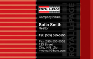 Royal Le Page Business Cards Credit Card Template: 327075