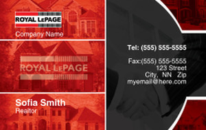 Royal Le Page Business Cards Credit Card Template: 327080