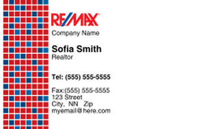 Button to customize design Remax Business Cards Credit Card Template: 326985