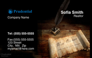 Prudencial Business Cards Credit Card Template: 327065