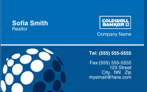 Coldwell Banker Business Cards Credit Card Template: 327021