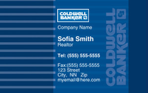 Coldwell Banker Business Cards Credit Card Template: 327025