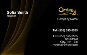 Century 21 Business Cards Credit Card Template: 327002