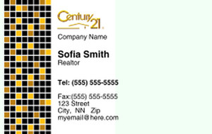 Century 21 Business Cards Credit Card Template: 327003