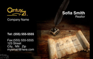 Century 21 Business Cards Credit Card Template: 327012