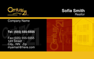 Century 21 Business Cards Credit Card Template: 327013