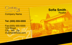Button to customize design Century 21 Business Cards Credit Card Template: 327015