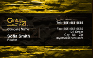 Century 21 Business Cards Credit Card Template: 327016