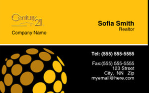 Century 21 Business Cards Credit Card Template: 327004