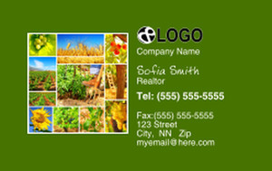 Farms Business Cards Credit Card Template: 325089